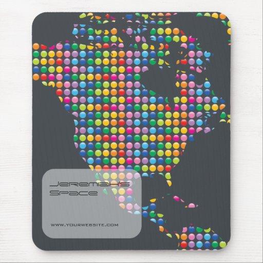 Color Mosaic Map | America Designer Mousepad