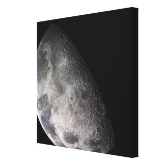 Color mosaic of the Earth's moon Canvas Print