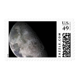 Color mosaic of the Earth's moon Postage