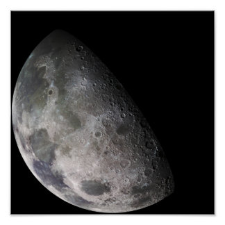 Color mosaic of the Earth's moon Posters