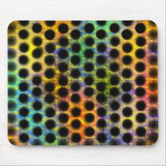 Color MousePad of lined up bagunçadas small balls