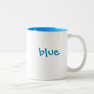 Color mug set: Blue, matching bright blue interior