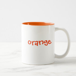 Color mug set: orange, matching orange interior