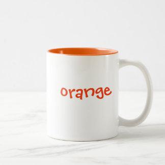 Color mug set: orange, matching orange interior
