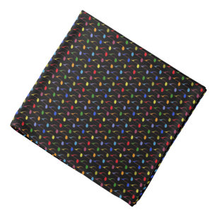 color music notes pattern bandana