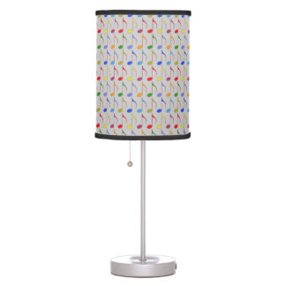 color musical notes pattern desk lamp