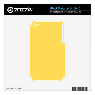 color mustard iPod touch 4G decal