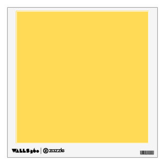 color mustard wall decal