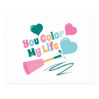 Color My Life Postcard