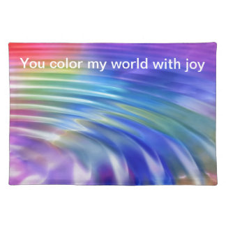 Color my life with joy place mat