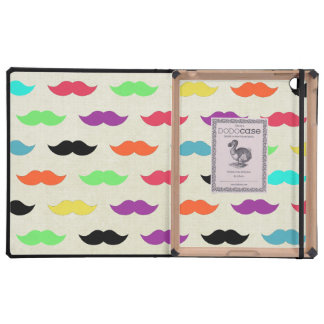 Color My Mustache Cases For iPad