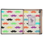 Color My Mustache iPad Folio Case