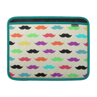 Color My Mustache Sleeve For MacBook Air