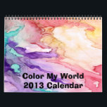 """Color My World 2016 Calendar<br><div class=""""desc"""">This 2016 calendar has been designed with one of my abstract painting for each month. It is bright and colorful. Enjoy!</div>"""