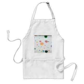 Color My World Bright Paint Drops Adult Apron
