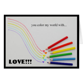 COLOR MY WORLD...NOTE CARD (photo)
