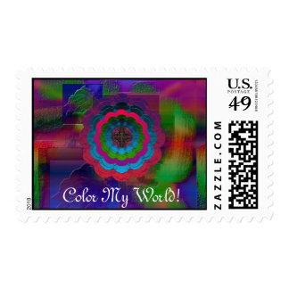 Color My World Postage Stamp