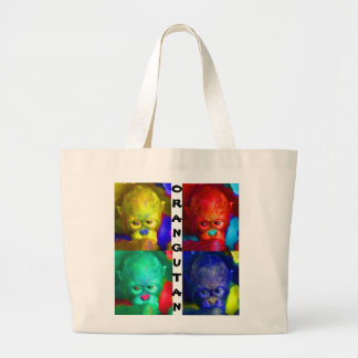 Color My World Primate Wildlife Large Tote Bag