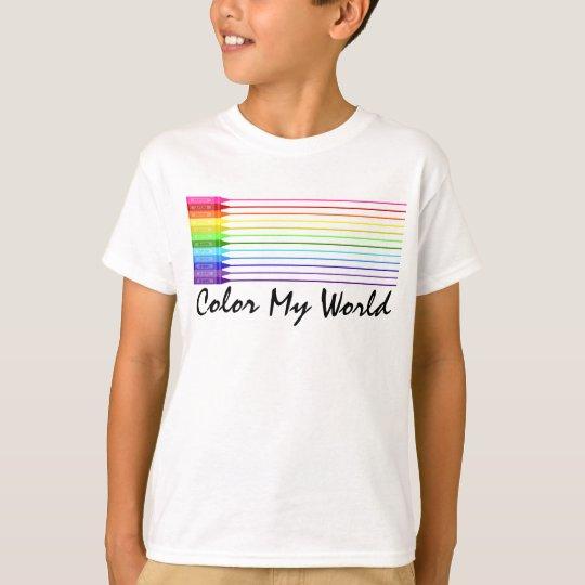 Color My World Rainbow Crayons T-Shirt