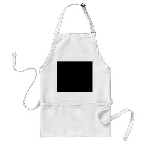 Color negro delantal