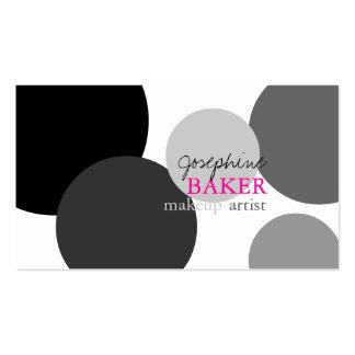 color/negro diy minniemay+puntos blancos tarjetas personales