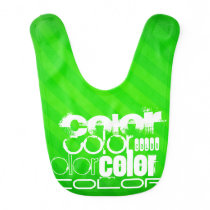Color; Neon Green Stripes Baby Bib