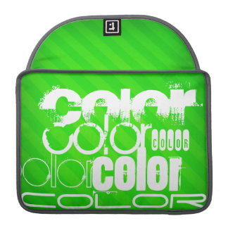 Color; Neon Green Stripes Sleeve For MacBook Pro