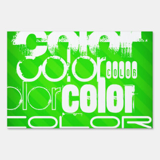 Color; Neon Green Stripes Sign