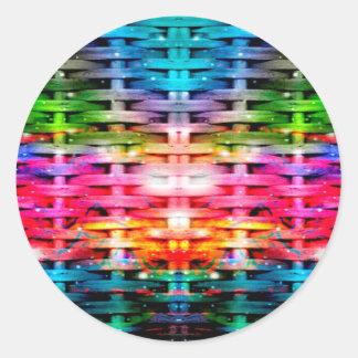 Color Network Classic Round Sticker