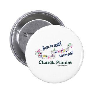 Color Notes Pianist Pinback Button