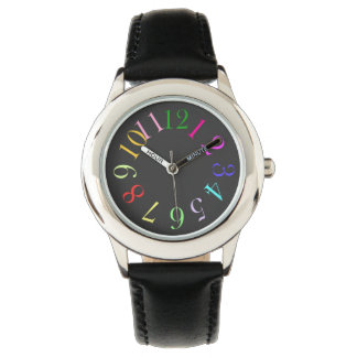 Color Number Wrist Watch