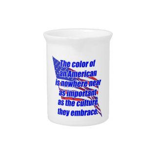 Color o cultura americano jarron