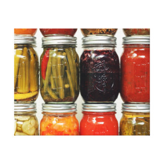 Color of Canning Wrapped Canvas