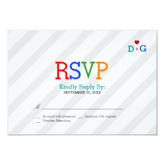 Color of Love Whimsical Wedding 3.5x5 Paper Invitation Card
