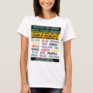 Color of Words Illusion - Stroop Effect T-Shirt