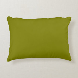 color olive accent pillow