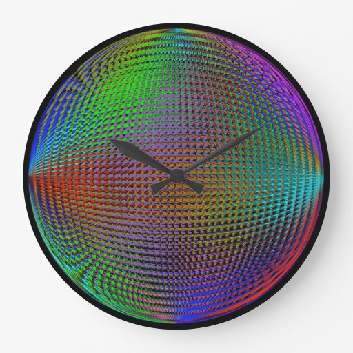 Color Orb Illusion Clock