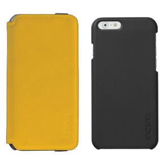 Color oro funda billetera para iPhone 6 watson