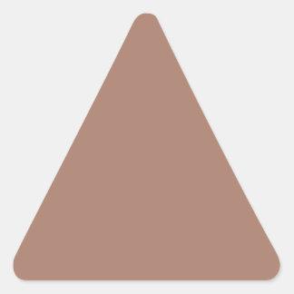 Color oscuro del moreno solamente de encargo pegatina triangular