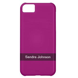 color oscuro simple personalizado del rosa de la b funda para iPhone 5C