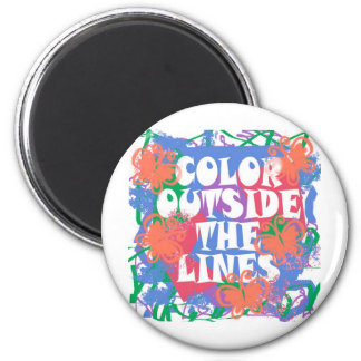 Color Outside the Lines 2 Inch Round Magnet