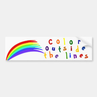 Color Outside the Lines Bumper Sticker