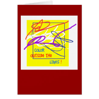 Color outside the lines card