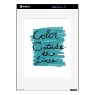 Color Outside the Lines iPad Skins
