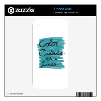 Color Outside the Lines iPhone 4 Skins