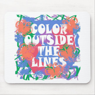 Color Outside the Lines Mouse Pad