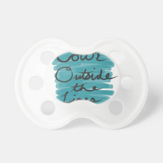 Color Outside the Lines Pacifier