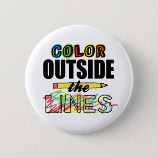 Color Outside The Lines Pinback Button
