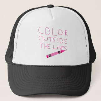 Color Outside The Lines (Pink) Trucker Hat