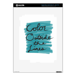 Color Outside the Lines Skin For iPad 3